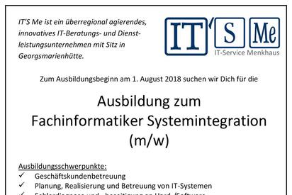 Stellenanzeige Fachinformatiker Systemintegration