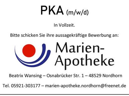 Stellenanzeige Marien-Apotheke