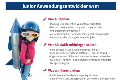Stelle Junior-Anwendungsentwickler/-in