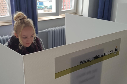 Stimmabgabe bei der Juniorwahl