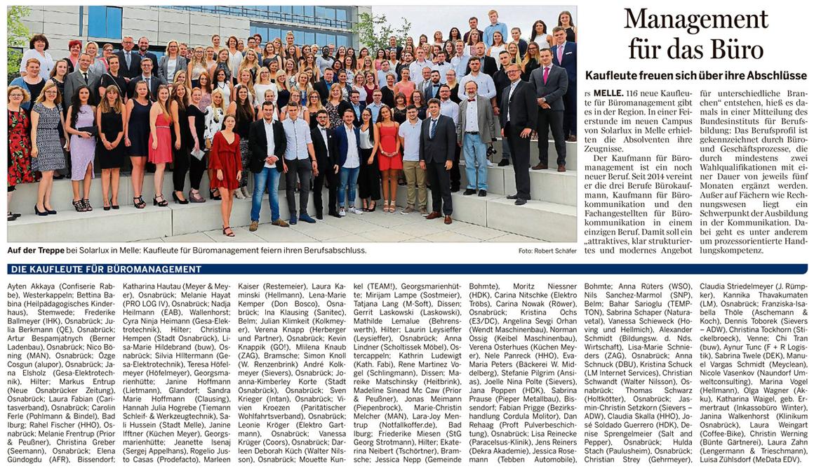 NOZ-Bericht Lossprechung BM 2017
