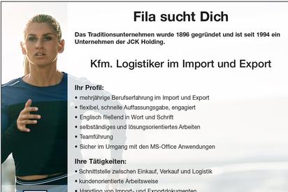 Stellenanzeige Logistiker Im- und Export